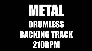 Metal Drumless Backing Track 210BPM No Drums