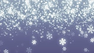 Falling Snowflakes Background Loop for Winter/Holidays