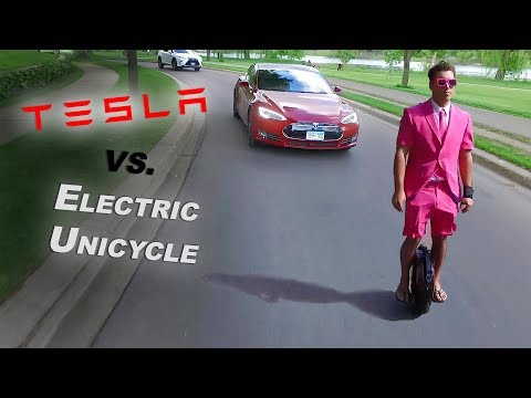 $1000 Electric Unicycle vs. $100,000 Tesla – Best Electric Commuter?