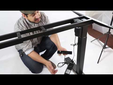 AdvanceUP Single-Motor Height Adjustable Standing Desk Assembly Video