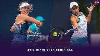 Anett Kontaveit Vs. Ashleigh Barty | 2019 Miami Open Semifinal | WTA Highlights
