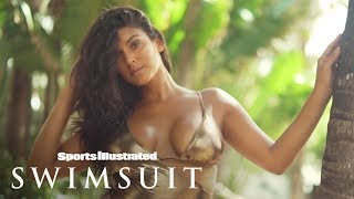 Michelle Vidal, Golden Goddess, Cools Off In The Pool | Casting Call | Sports Illustrated Swimsuit