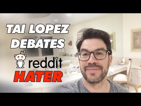Tai Lopez Debates A Reddit Hater
