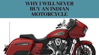 Why I Will Never Buy An Indian Motorcycle Friday Free Ride #9