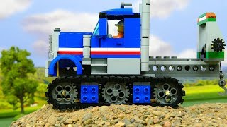 Lego Experimental Truck , Crane Trailer and Dump Truck Toy Vehicles   | Car toys for kids