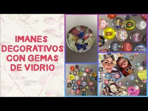 PASO A PASO IMANES DECORATIVOS CON GEMAS DE VIDRIO - DECORATIVE MAGNETS WITH GLASS GEMS