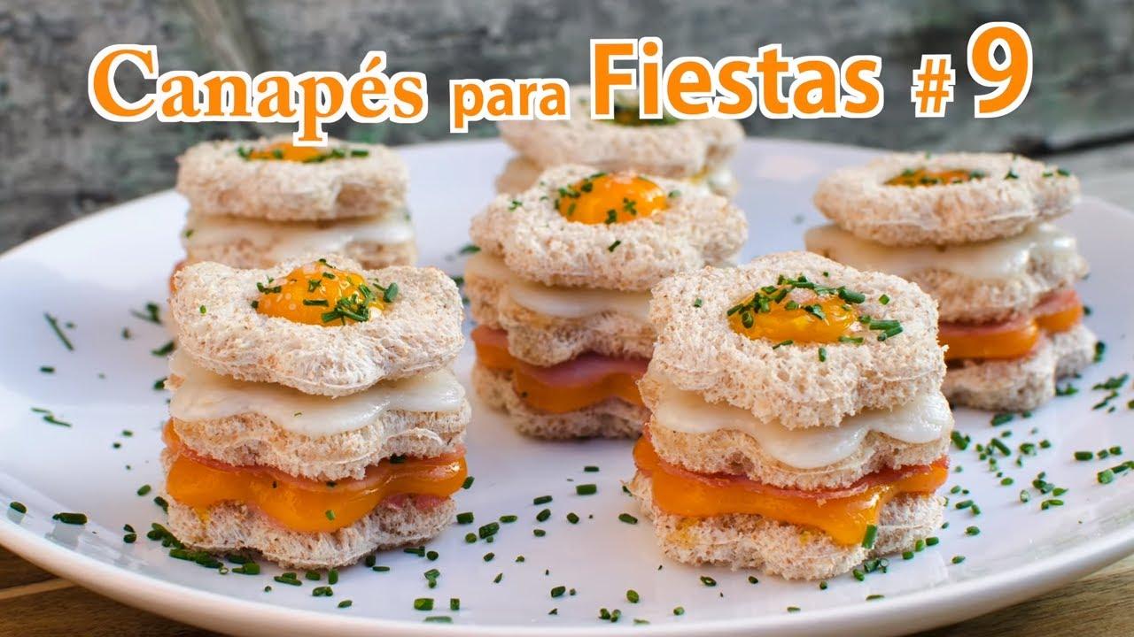 Canapés para Fiestas 9 | Canapé de Pan de Molde versión del  Sandwich Mixto con Huevo