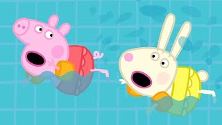 Peppa Pig Official Channel | Peppa Pig Goes Swimming with Rebecca Rabbit