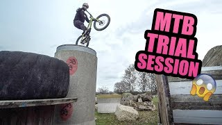 MTB TRIAL SESSION - GAPS, FLIPS AND CRASHES!
