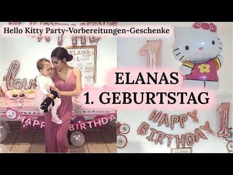 ELANAS 1. GEBURTSTAG I HELLO KITTY PARTY - VORBEREITUNGEN - GESCHENKE I Sevins Wonderland
