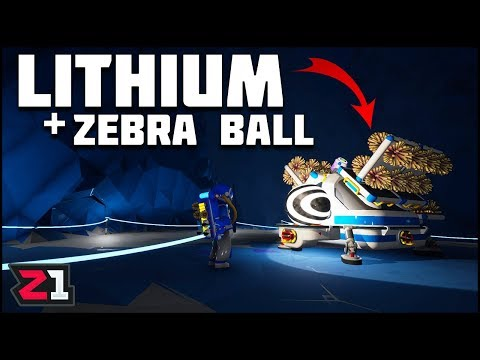 Mining Lithium and the Super Sneaky Zebra Ball ! Astroneer Gameplay | Z1 Gaming