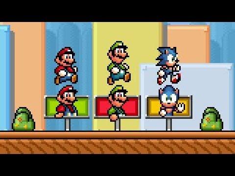 SMBX 1 4 4 - Super Mario Bros 1 NEW NPCs  (All Stages