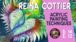 Acrylic Painting Techniques And Tutorial With Reina Cottier | Colour In Your Life