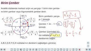 Eğitim Vadisi 11.Sınıf Matematik 1.Föy Trigonometri 3 Konu Anlatım Videoları