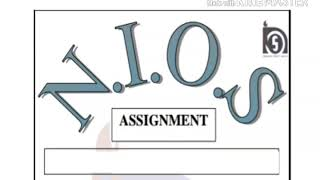 assignment front page sample