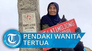 Kisah Wahyuni, Pendaki Gunung Wanita Tertua di Indonesia yang Tiap Beraksi Bawa Ikan Asin