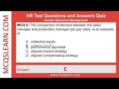 HR Test Questions and Answers - MCQs Online Quiz - HR Trivia ...