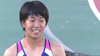 齋藤愛美 NGR 11.57 少年女子A100m 決勝 いわて国体陸上2016