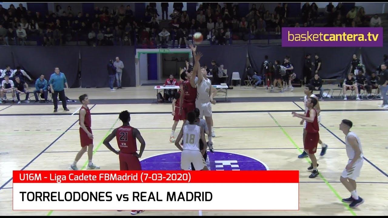 U16M - TORRELODONES vs REAL MADRID.- Liga Cadete FBMadrid 7-03--2020 (BasketCantera.TV)