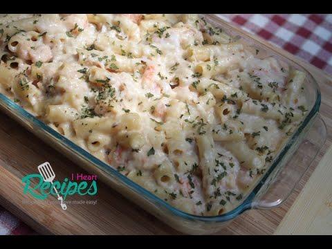 Video Seafood Baked Ziti - I Heart Recipes