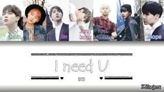 BTS - I Need U | Sub (Han - Rom - Español) Color Coded Letra