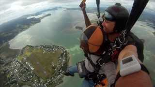 preview picture of video 'My first skydive | New Zealand ..! (Whangarei, New Zealand)'