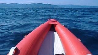 2馬力で海が荒れだした