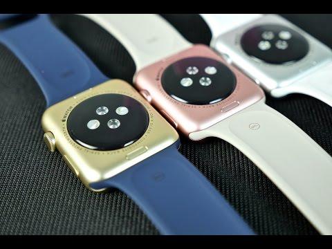 Apple Watch Sport Rose Gold & Gold Colors - Unboxing & Comparison