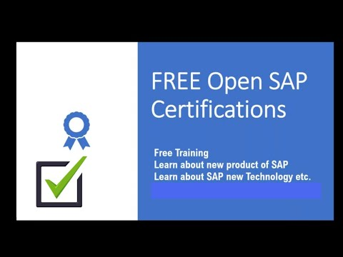 Free SAP Certification from Open SAP English - YouTube