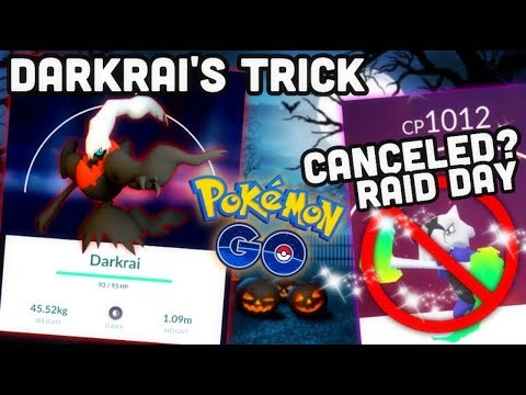 Darkrai's trick & treat in Pokemon GO | Canceled Alolan Marowak Raid day discussion