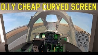 D.I.Y. Cheap Curved Projector Screen- for the Flight Sim!