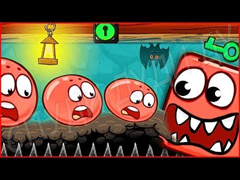 ОГРОМНЫЙ БОСС СКЕЛЕТ ИЗ МАИНКРАФТ КРАСНЫЙ ШАРИК 4 - ПОДЗЕМНЫЕ ХОДЫ мультик игра для детей RED BALL 4 (видео)