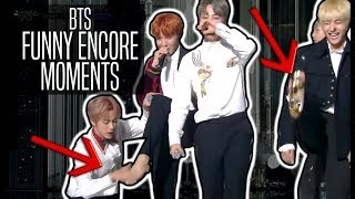 BTS  FUNNY ENCORE MOMENTS