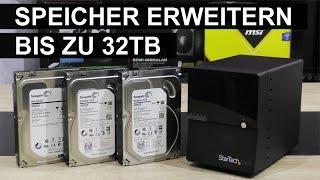 [DEUTSCH] StarTech.com 4-Schacht USB3.0/eSATA Externes Festplattengehäuse Testbericht