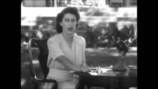 "Queen Elizabeth II 21 years old speech "" I Declare Before you All "" ORIGINAL VIDEO 21 April, 1947"