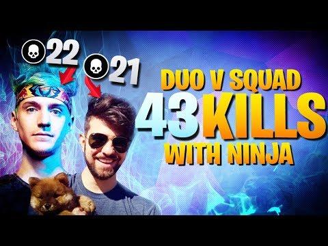 Ninja And I Dropped 43 Kills (Fortnite Battle Royale)