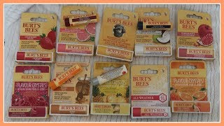 BURTS BEES LIP BALM COLLECTION !!!!!!