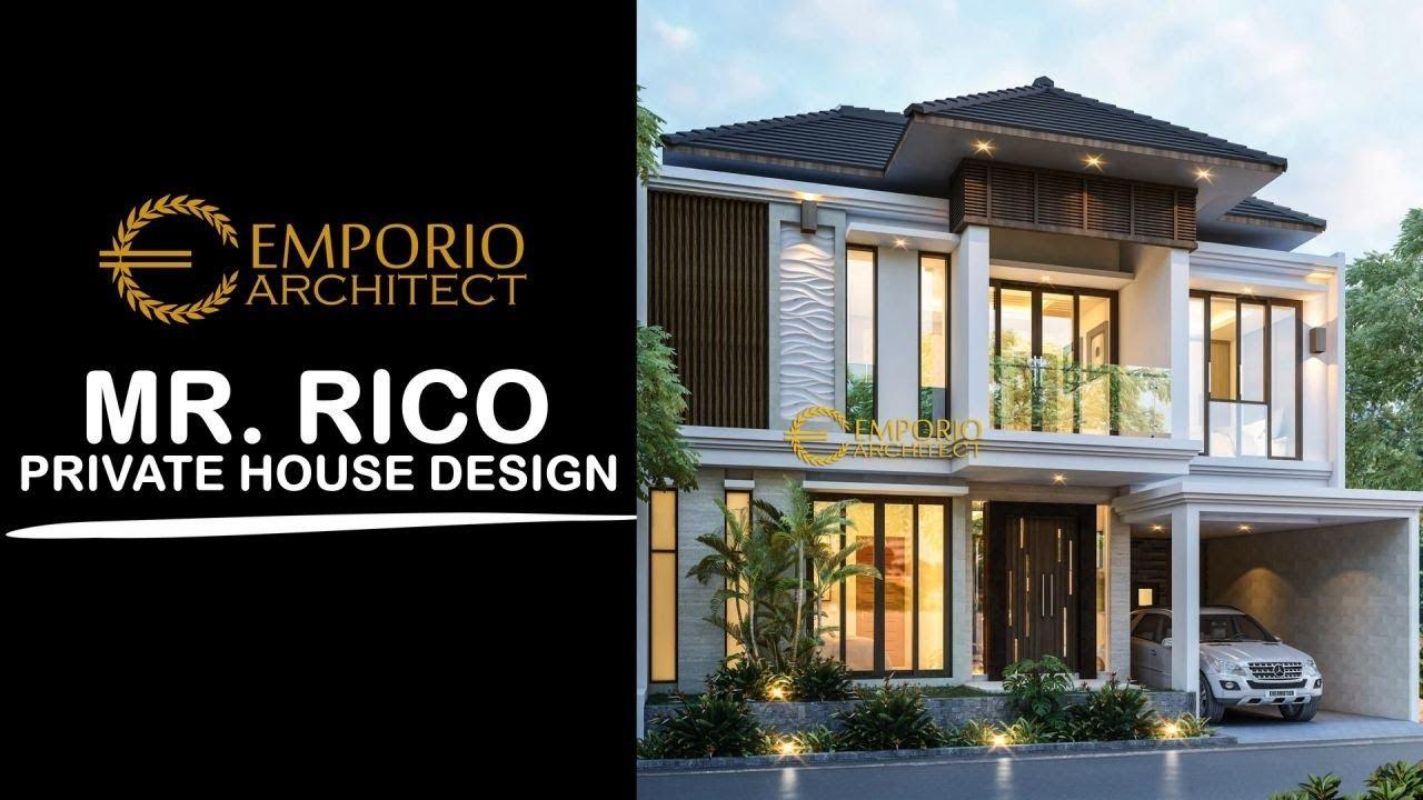 Video 3D Desain Rumah Villa Bali 2 Lantai Bapak Rico di Bogor