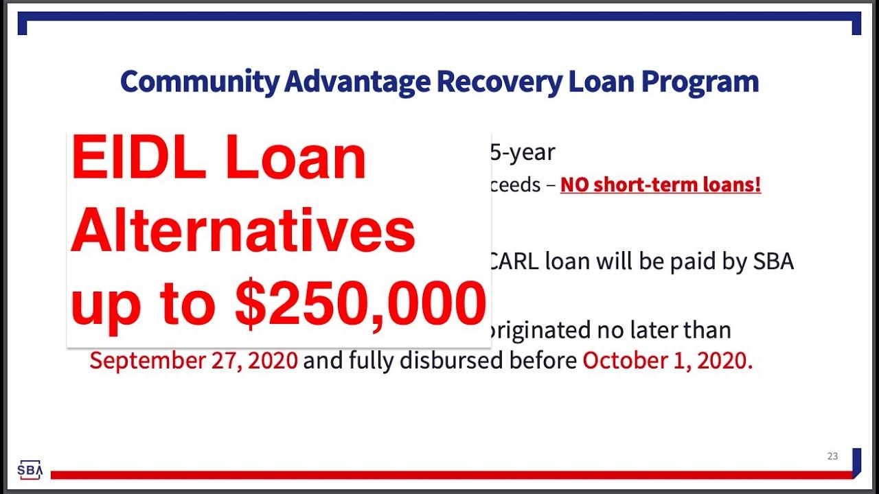 EIDL LOAN OPTION|SBA Backed Loan As Much As $250,000|CARL PROGRAM thumbnail