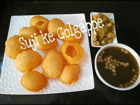 Perfect Homemade Suji Ke Golgappe Recipe with Aami Puddina Pani/Panipuri/Chaat by Somyaskitchen #262
