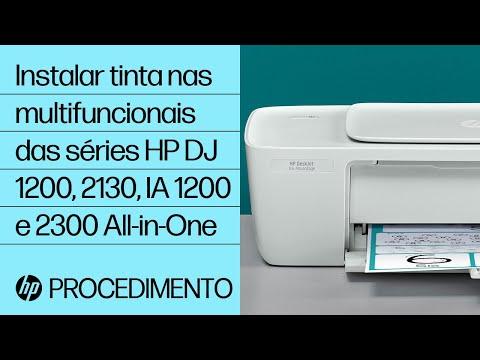 Instalar a tinta nas multifuncionais das séries HP DeskJet 1200, 2130, Ink Advantage 1200 e 2300 All-in-One