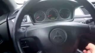 Снятие дорестайл руля Mitsubishi Lancer 9