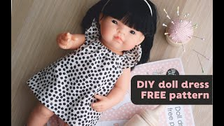 Easy Sewing DIY Miniland Doll Dress/tunic FREE PATTERN