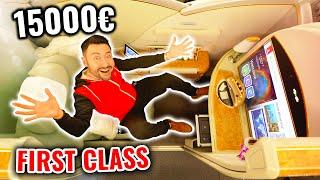 Je teste un Siège d'Avion à 15 000€ ! (j'ai pris une douche)