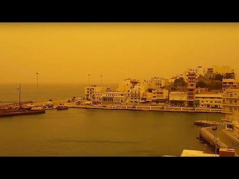 Η αφρικανική σκόνη «έπνιξε» τη μισή Ελλάδα
