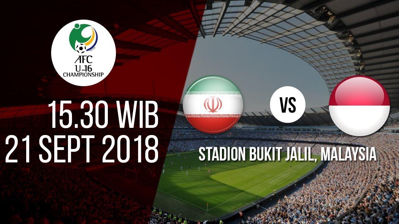 Jadwal Live MNC TV Piala AFC U-16 Iran Vs Indonesia, Pukul 16.30 WIB