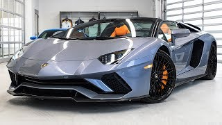 Delivery of a  2018 Lamborghini Aventador S LP740-4 Roadster in Grigio Oneirus!!! 4K