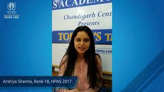 Chanakya IAS Academy Review by Toppers - Arshiya Sharma (AIR 18, HPAS 2017)