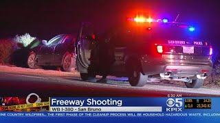 Driver Hospitalized In Freeway Shooting On I-380 In San Bruno