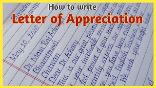 How to write appreciation letter | hand writing a letter english| Eng Teach
